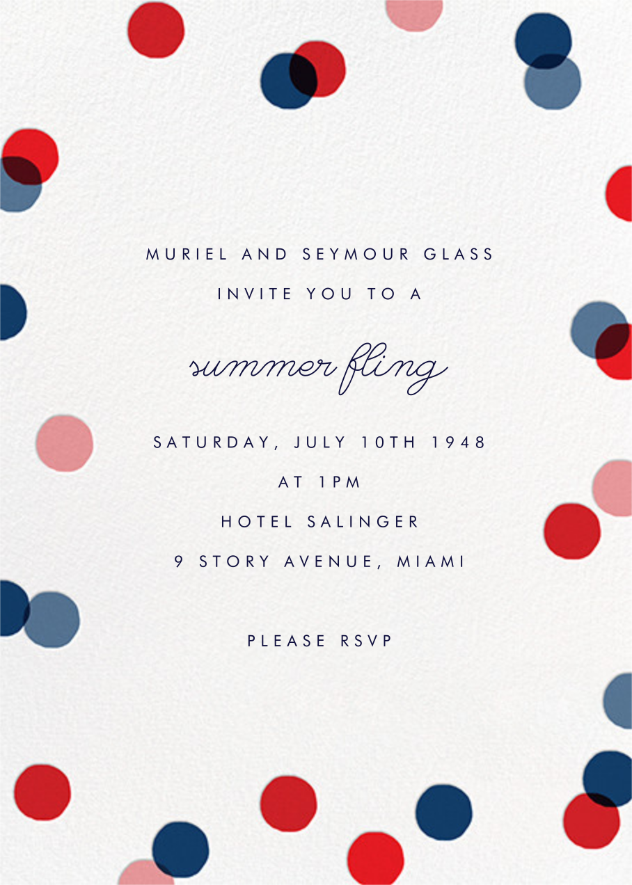 Carnaby (Tall) - Red/Blue - Paperless Post - Summer entertaining