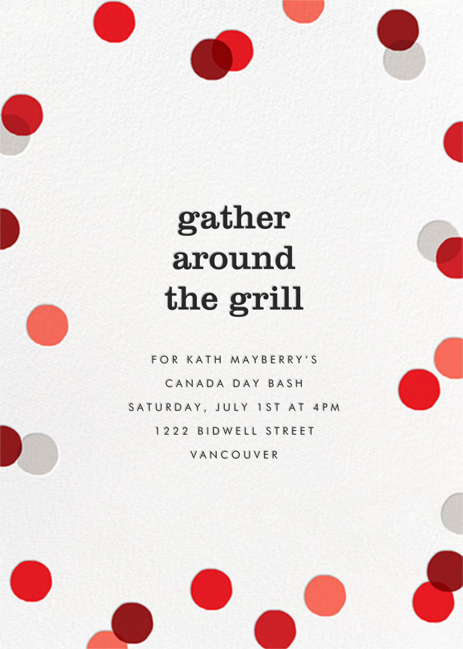 Carnaby (Tall) - Red - Paperless Post - Canada Day