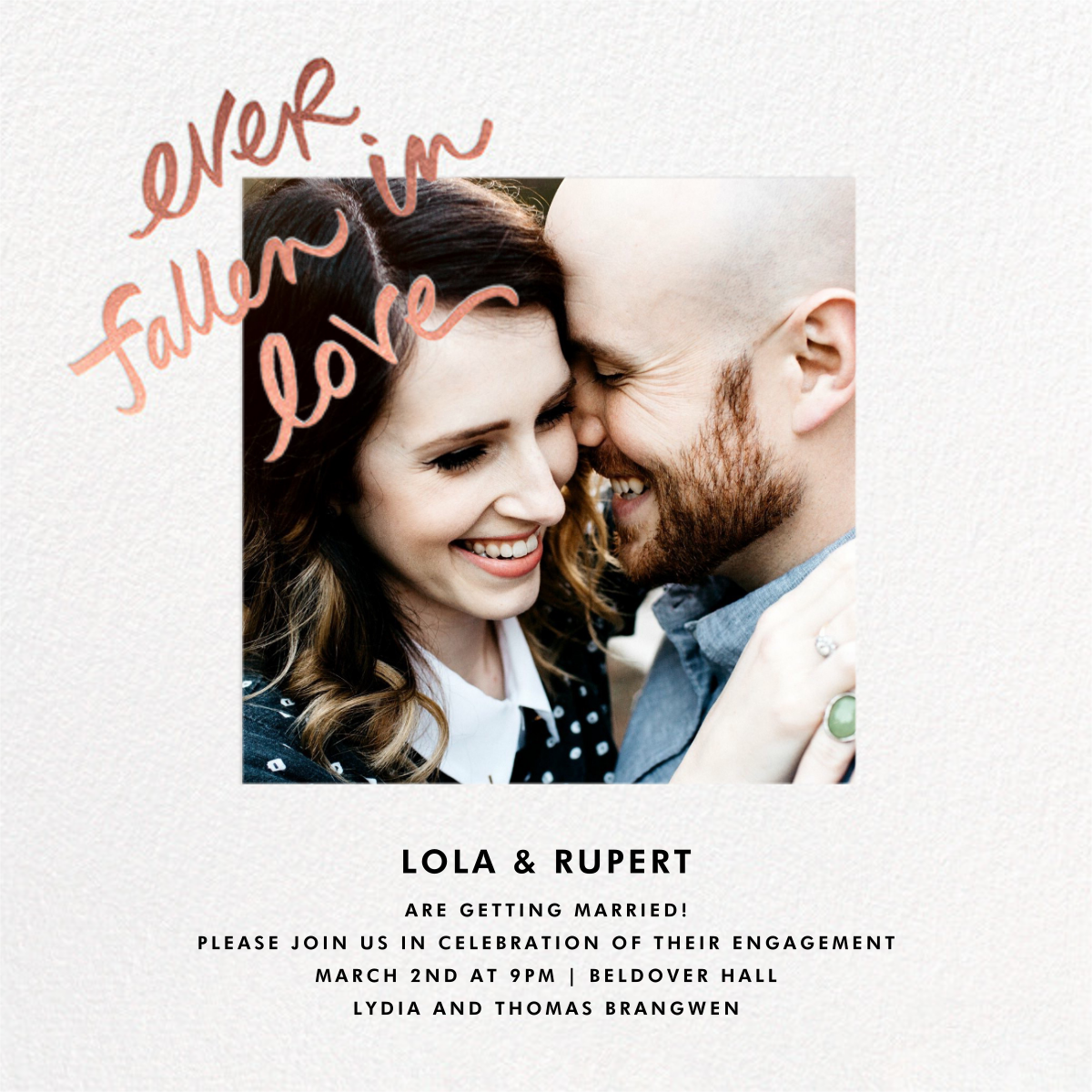 Fallen In Love - White - kate spade new york - Engagement party