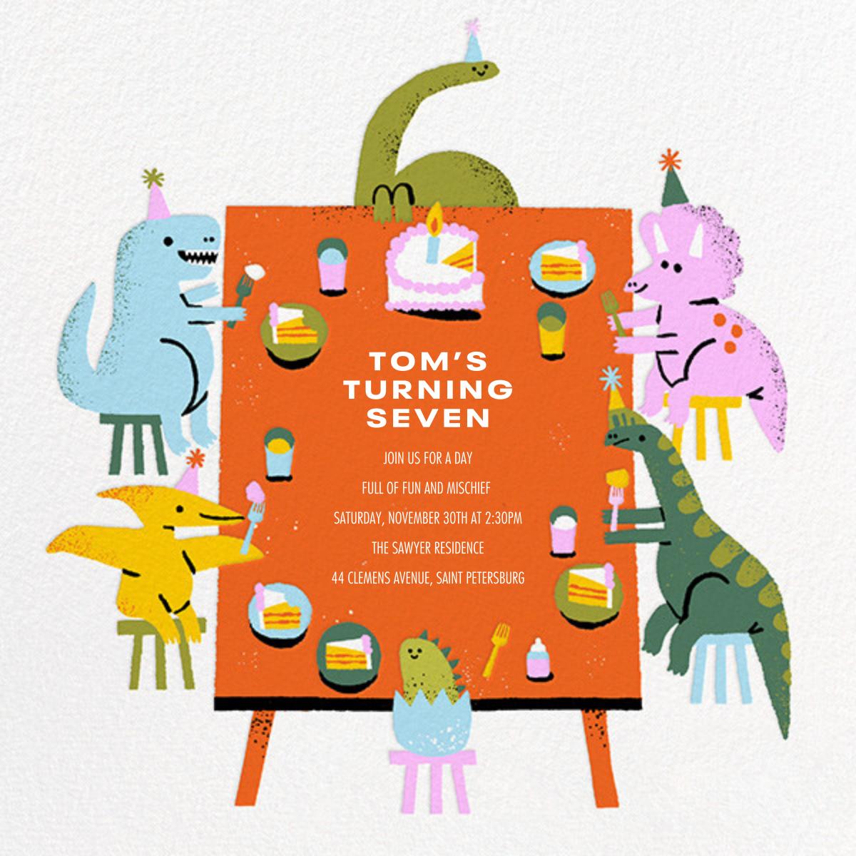 Dino Table - Paperless Post - Kids' birthday