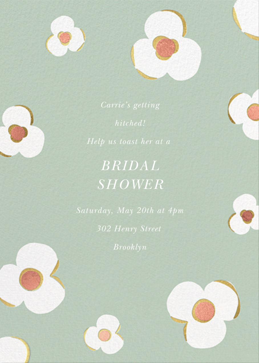 Three Petals - Mint - kate spade new york - Bridal shower