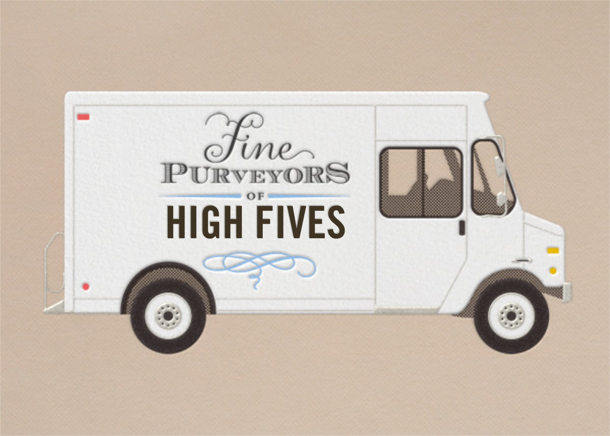 High Fives - Delivery Truck - Paperless Post - Graduation