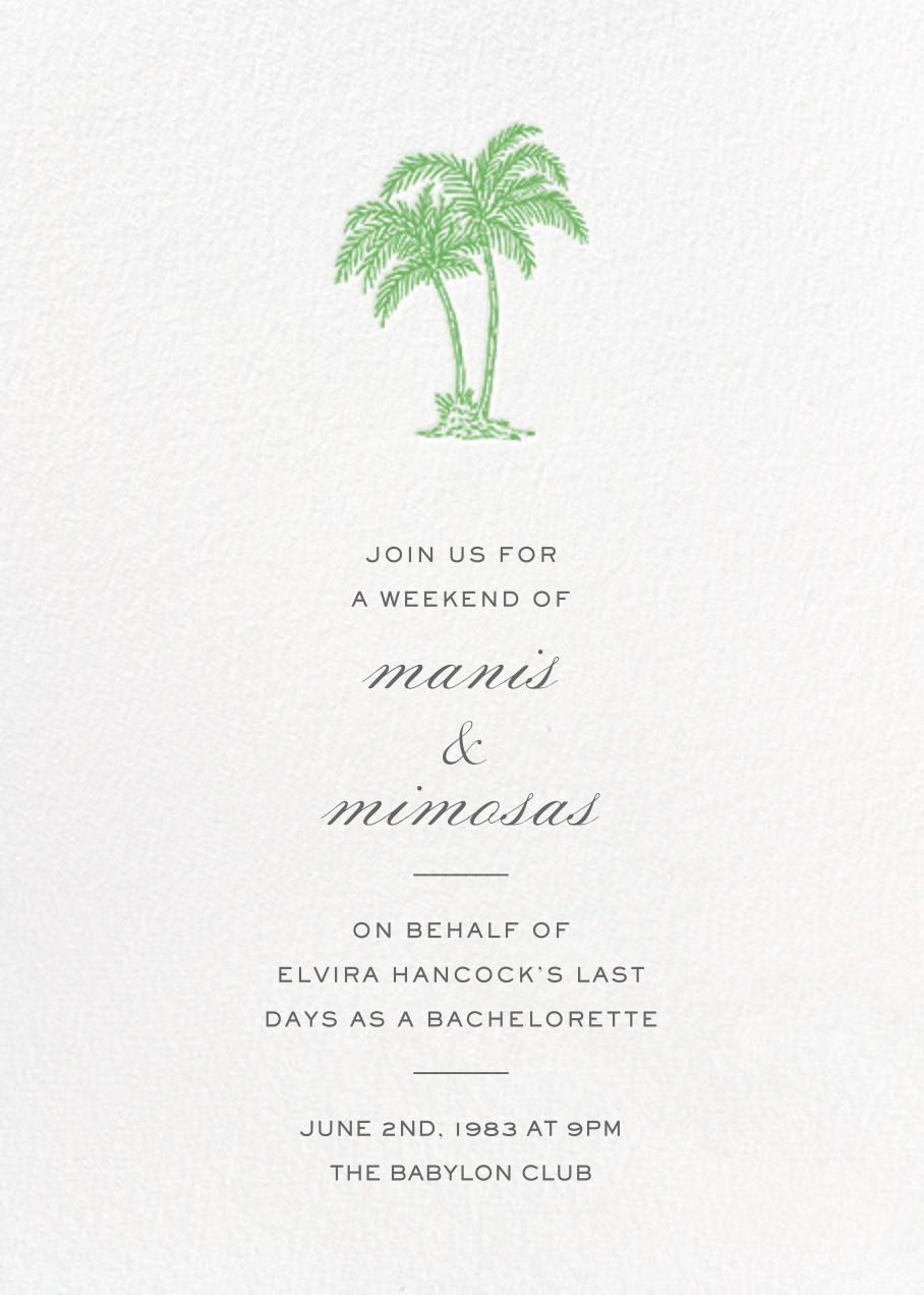 Mascarene - Green - Crane & Co. - Bachelorette party
