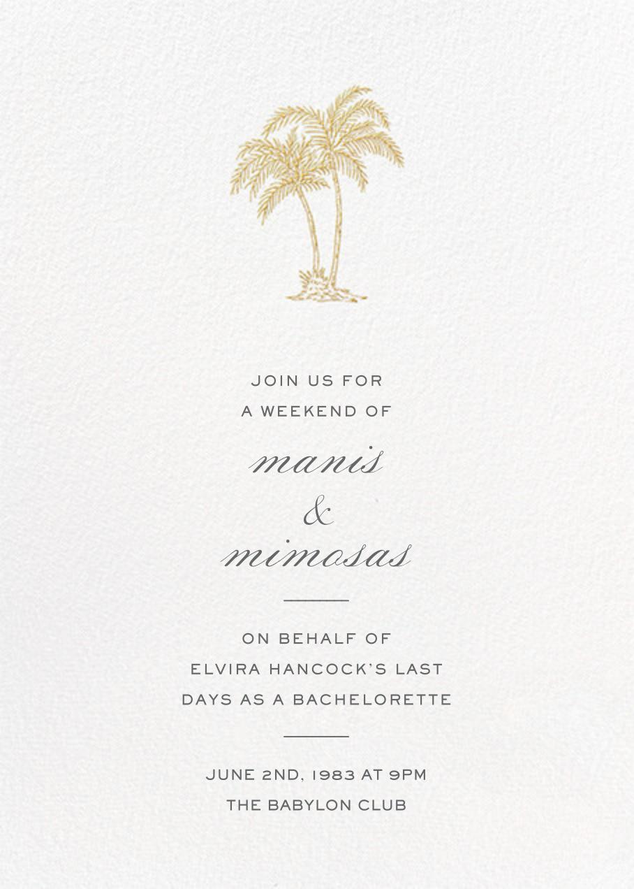Mascarene - Gold - Crane & Co. - Bachelorette party