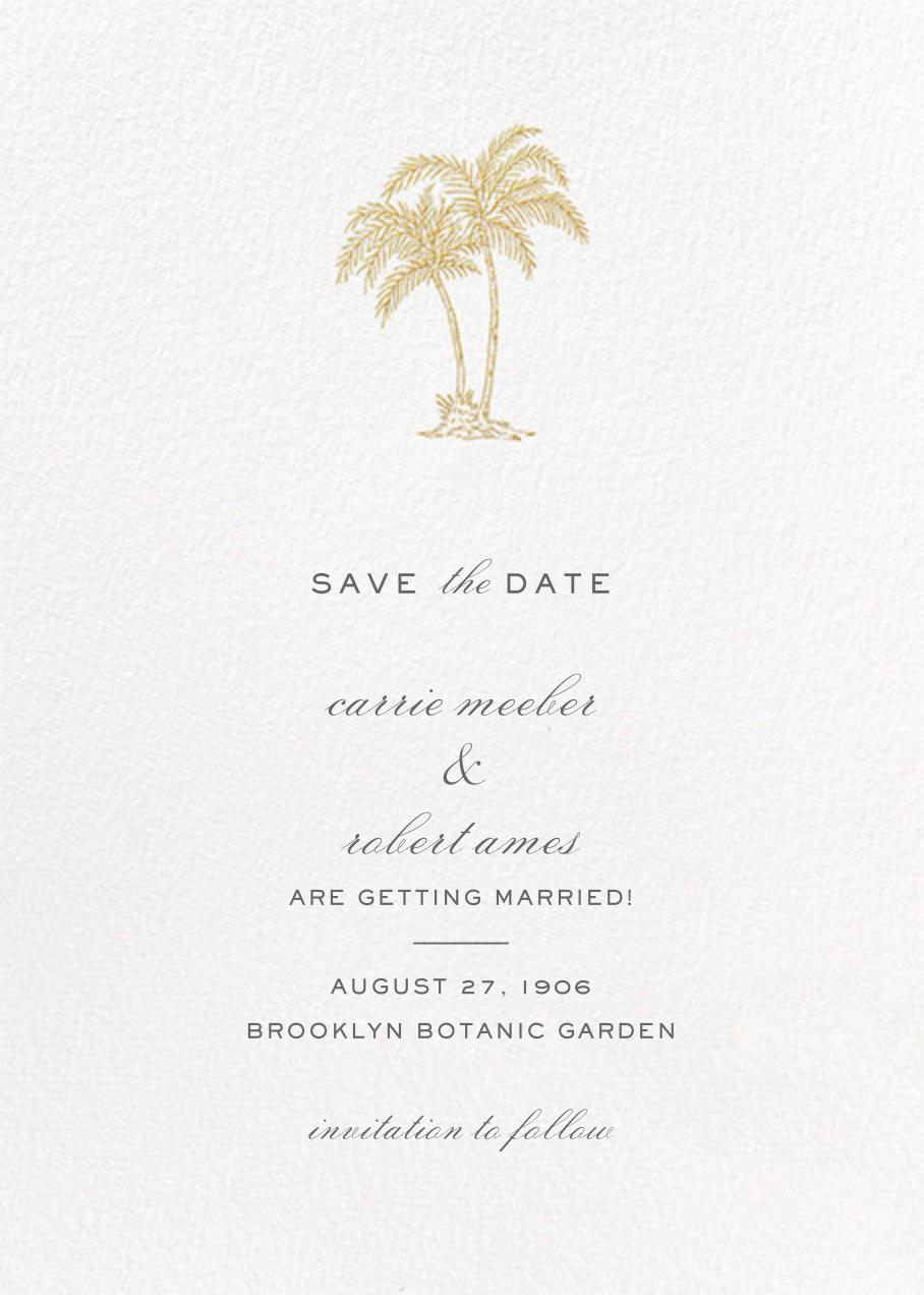 Mascarene (Save the Date) - Gold - Crane & Co. - Save the date