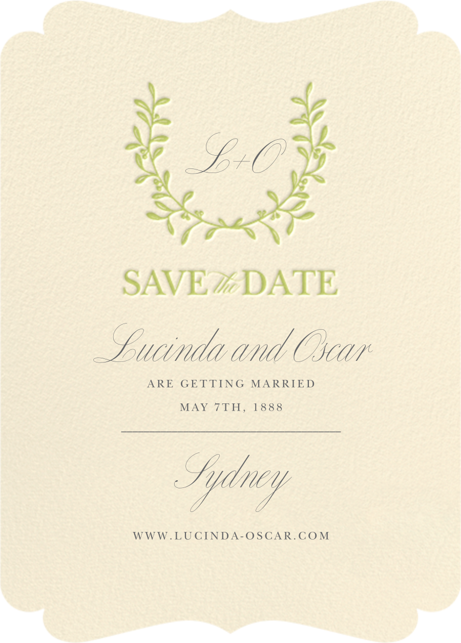 Lucky Wreath - Crane & Co. - Save the date