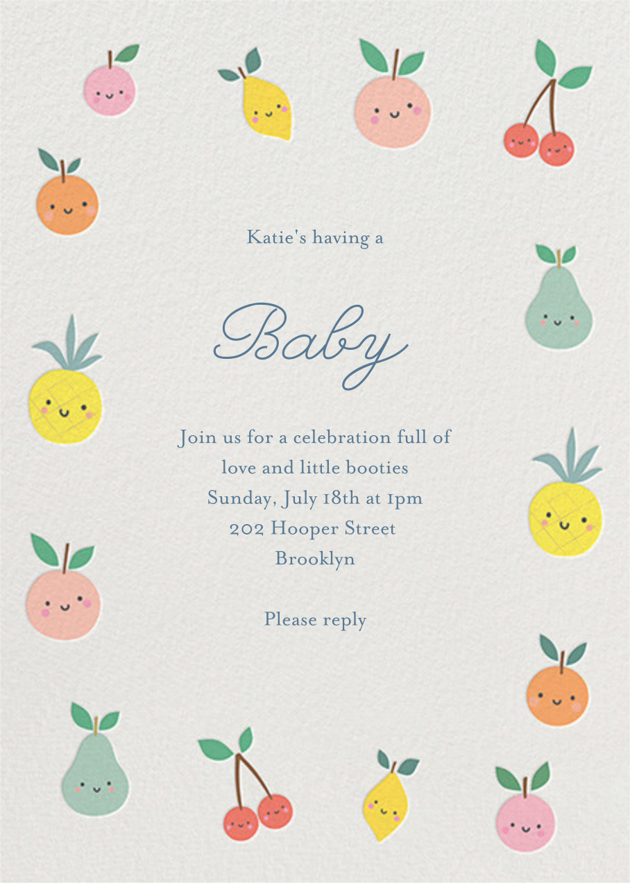 Cute Fruit - Little Cube - Baby shower