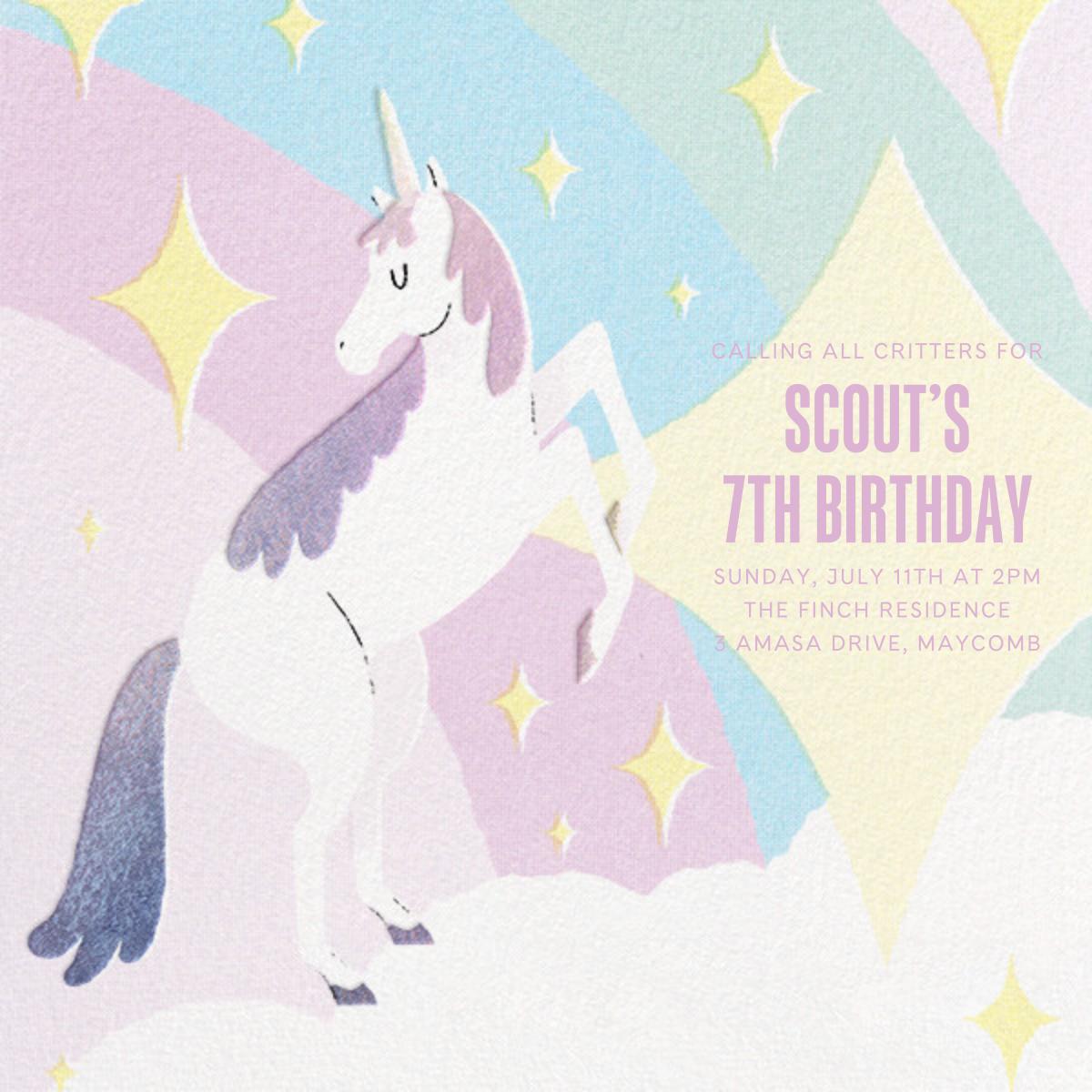 Magic Unicorn - Paperless Post - Unicorn invitations