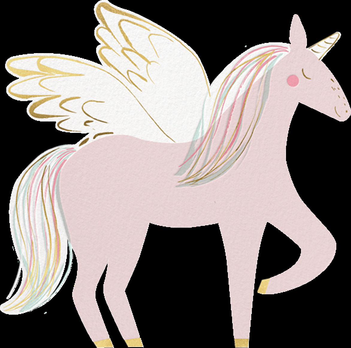 Rainbow Mane - Meri Meri - Unicorn invitations