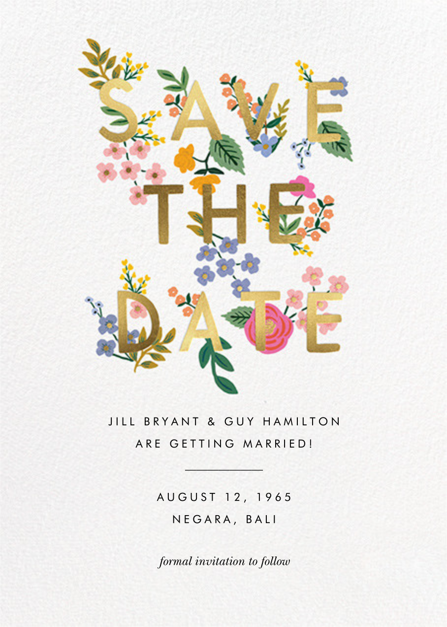 Posey - White - Rifle Paper Co. - Save the date