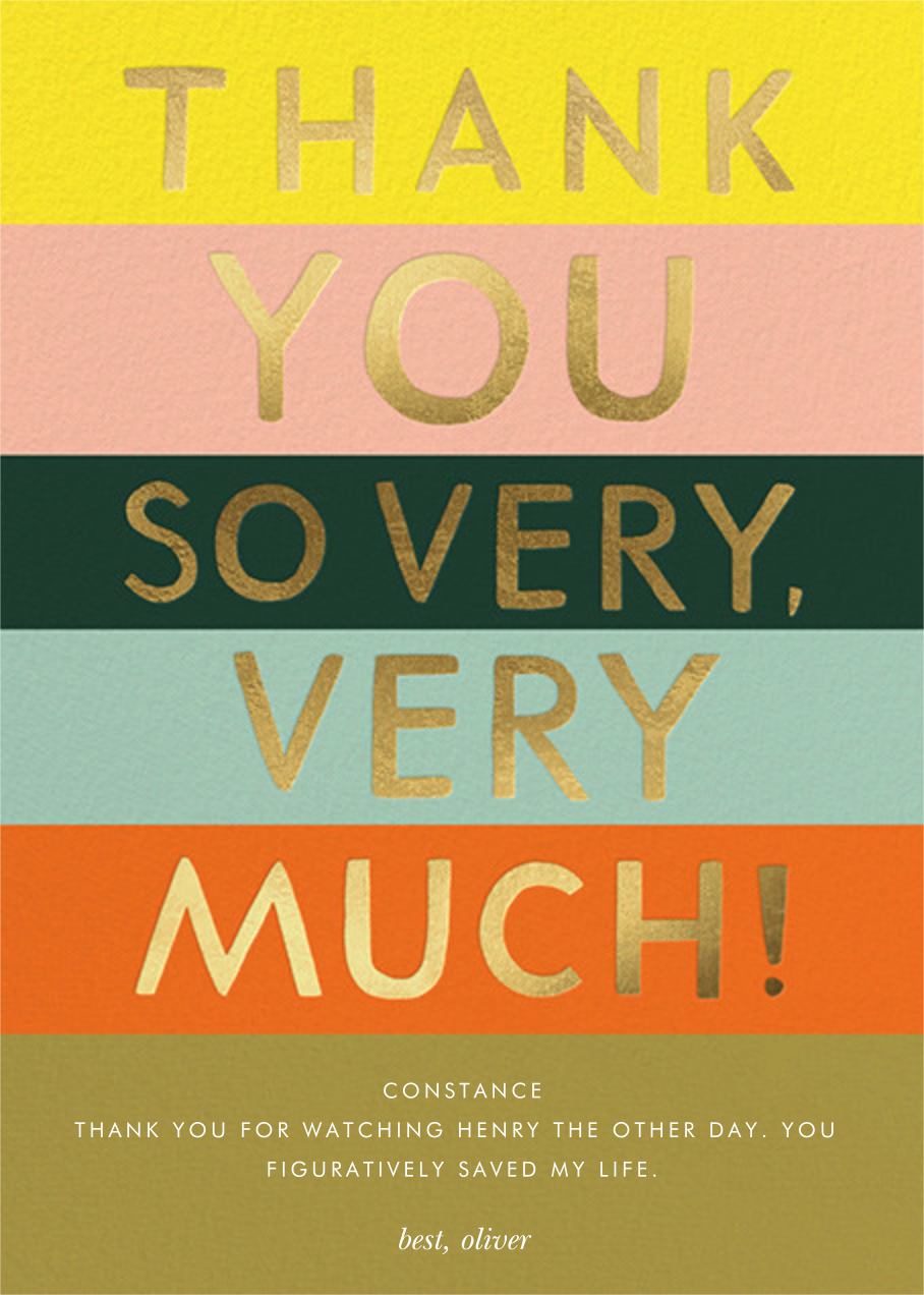 Color Block Thank You - Rifle Paper Co. - Graduation thank you cards