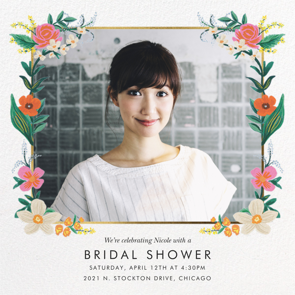 Orangerie (Square) - White - Rifle Paper Co. - Bridal shower