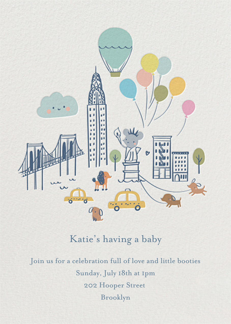 City Mouse - Little Cube - Baby shower