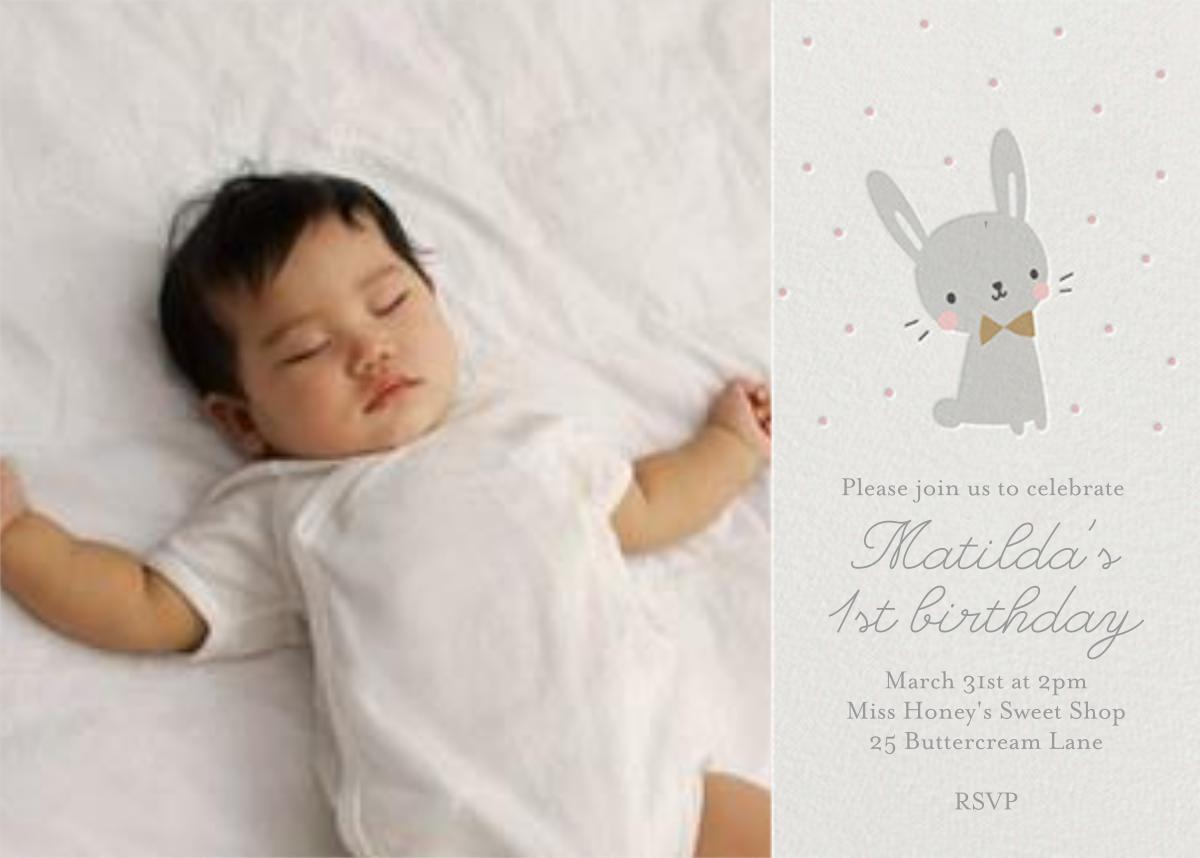 Baby Bunny Photo - Little Cube - 1st birthday