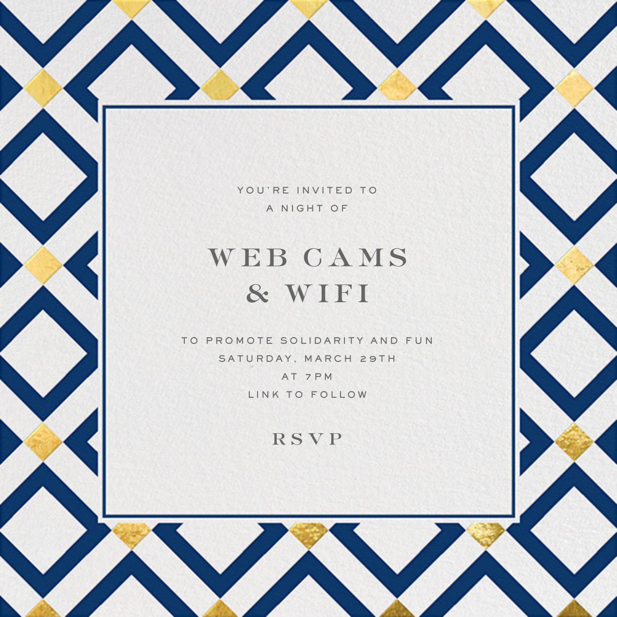 Bobo - Gold and Navy Blue - Jonathan Adler - Virtual parties