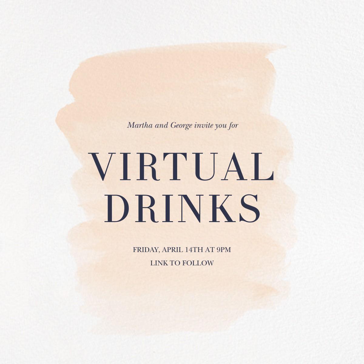 Basic Brushstroke - Bellini - Sugar Paper - Virtual parties