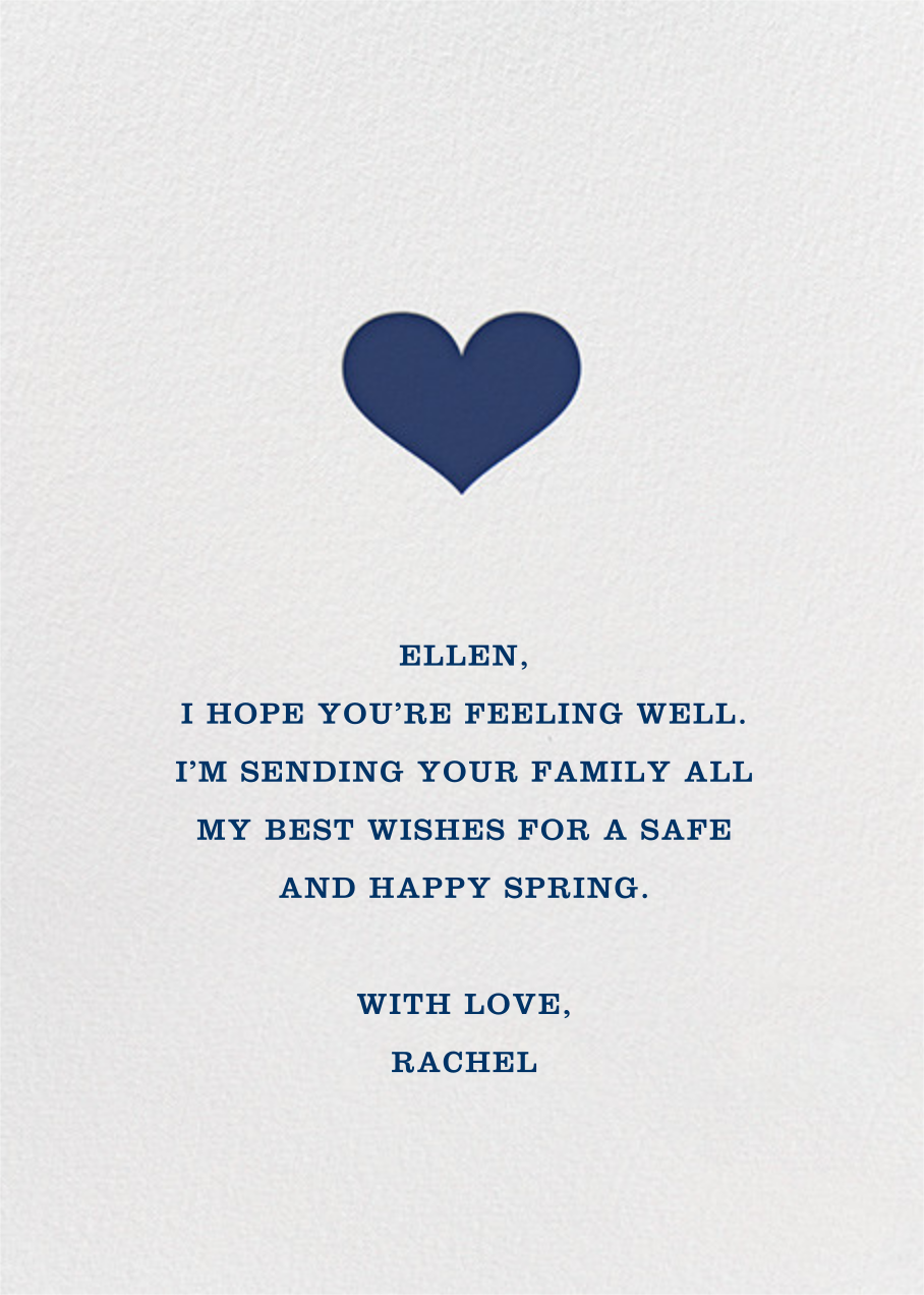 Glory of Love - Blue - Jonathan Adler - Thinking of you - card back