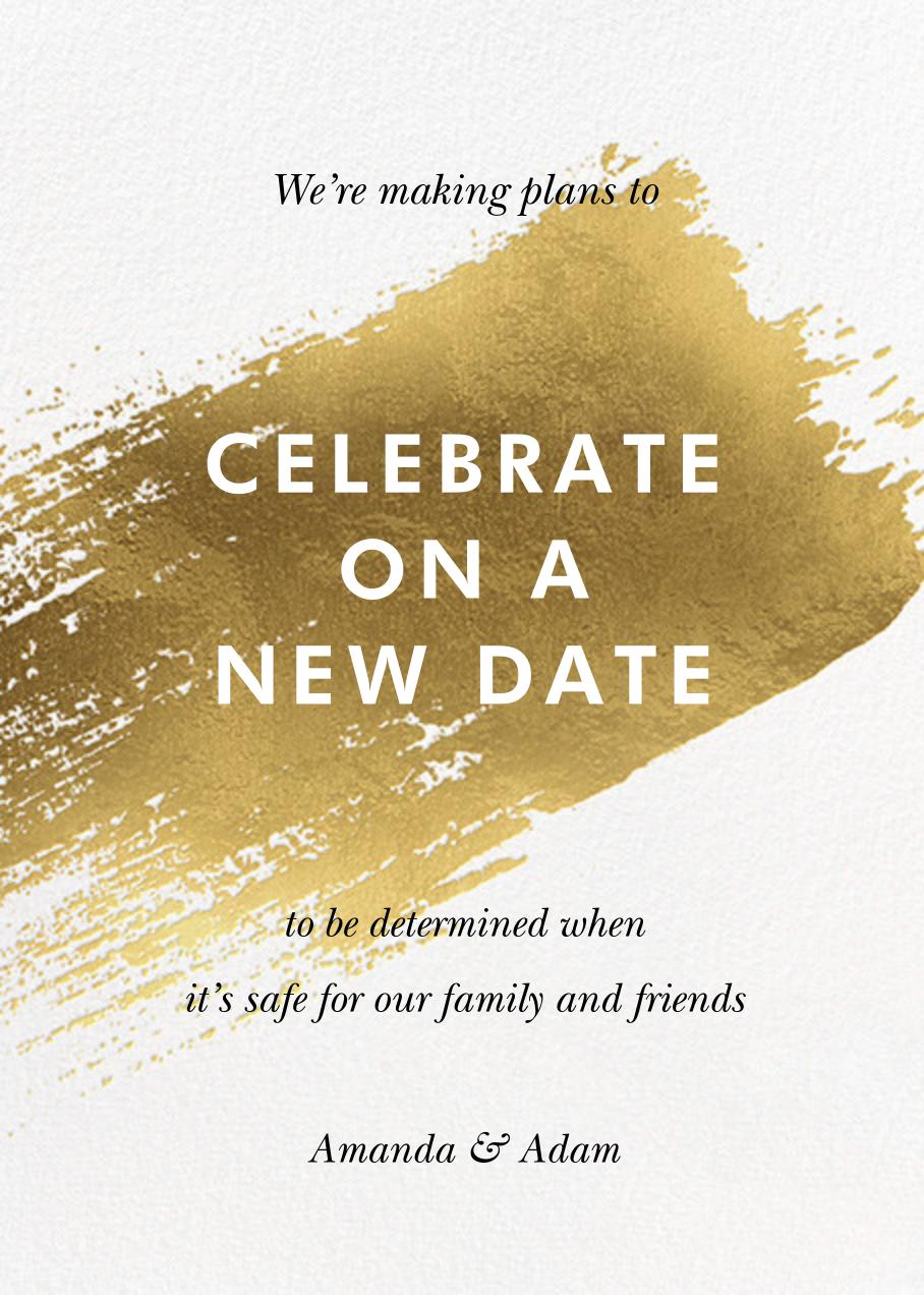 Impasto - Paperless Post - Wedding postponement