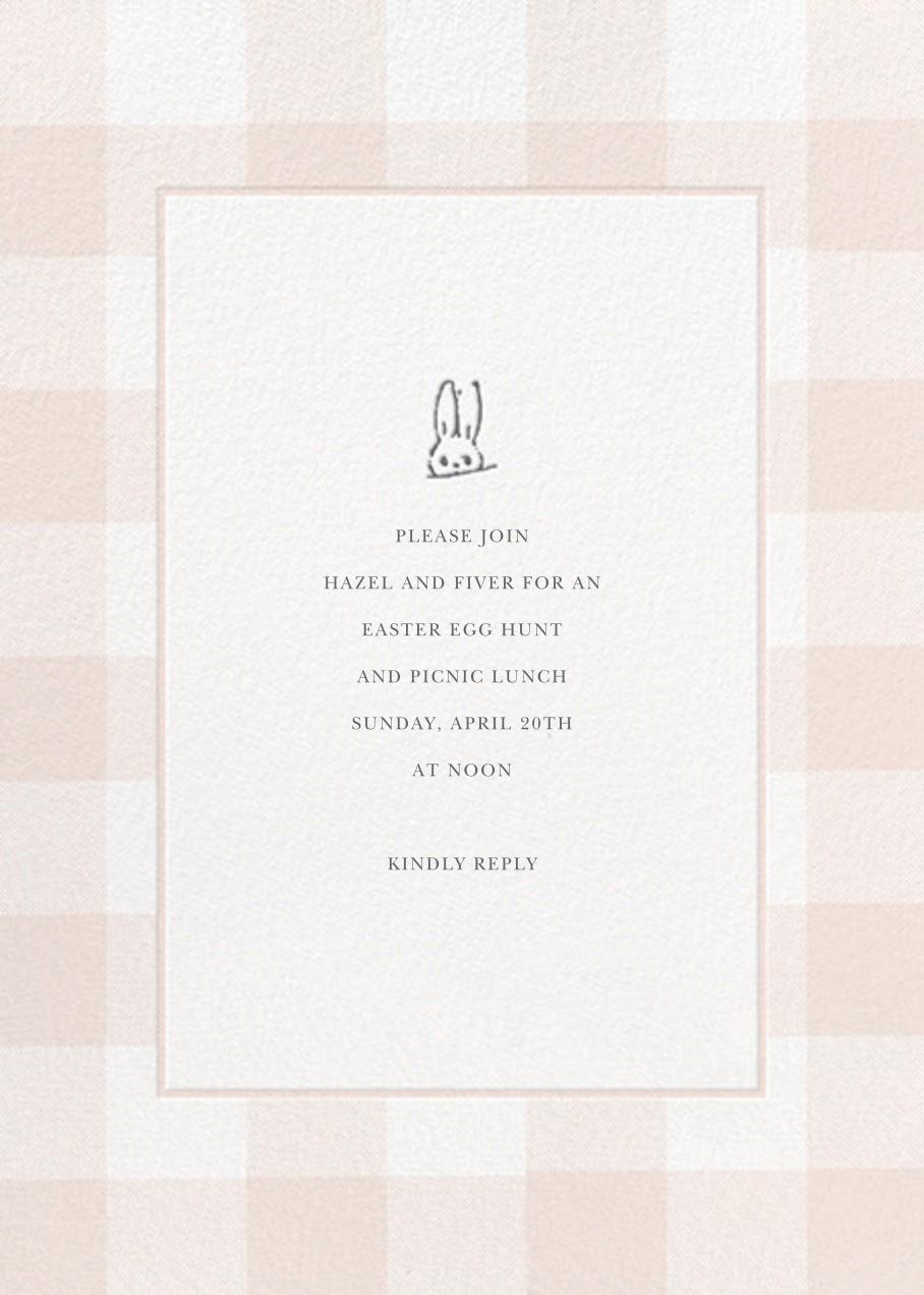 Buffalo Check Bunny - Pink - Sugar Paper - Easter