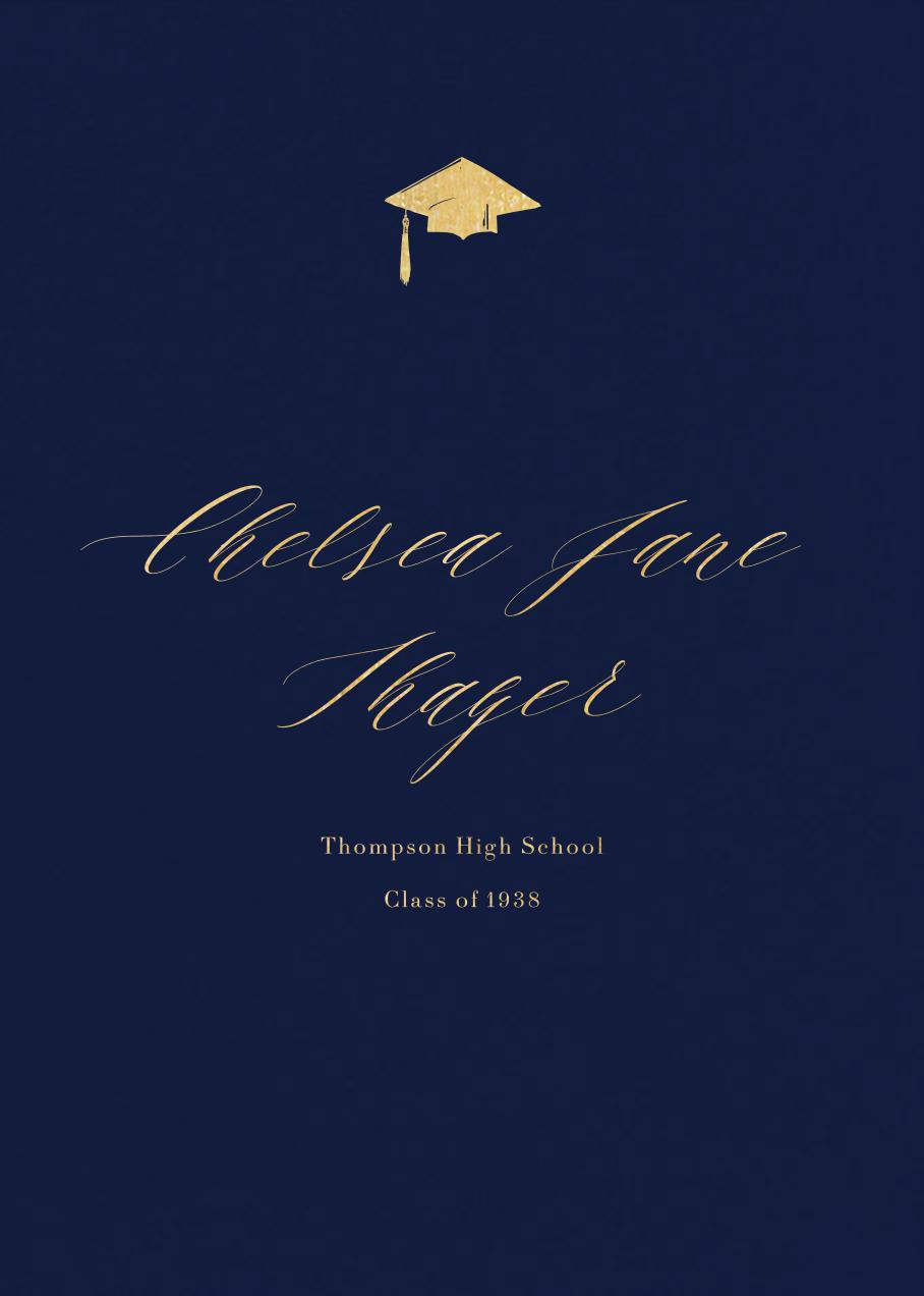 Navy (Tall) - Paperless Post - Graduation