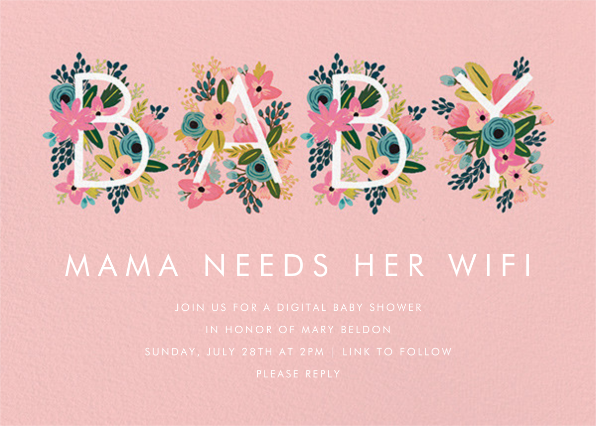 Floral Baby - Rifle Paper Co. - Virtual parties