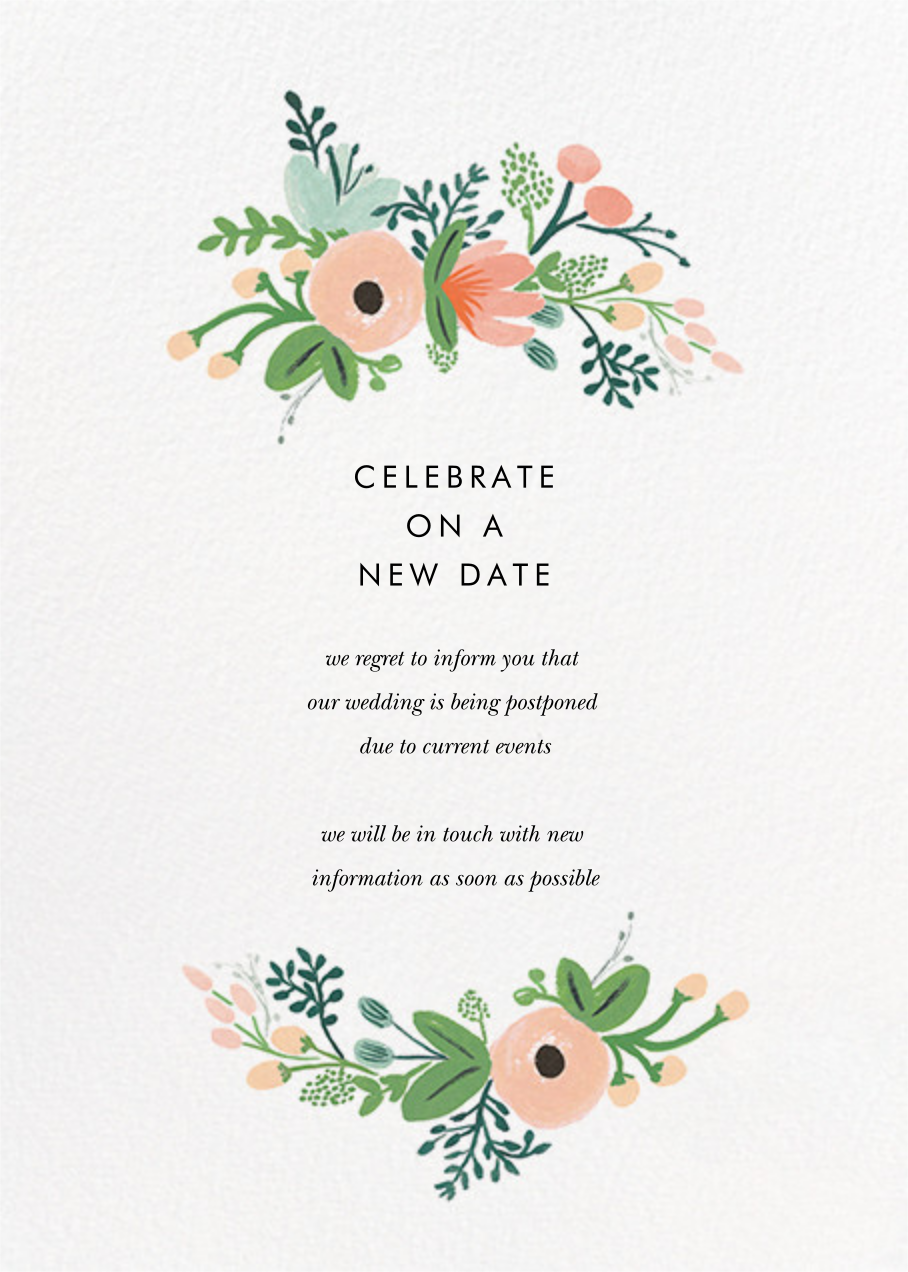 Wrapped in Wildflowers Suite - Rifle Paper Co. - Wedding postponement