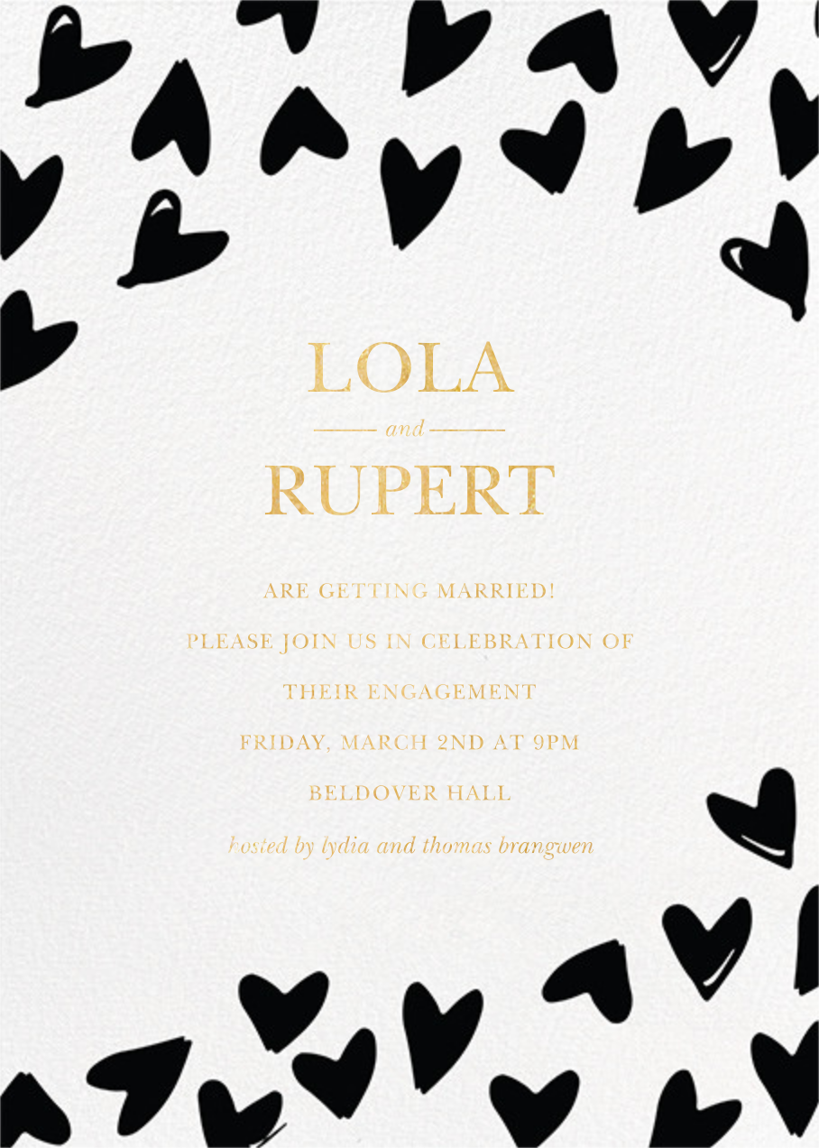 Doodle Hearts - Sugar Paper - Engagement party