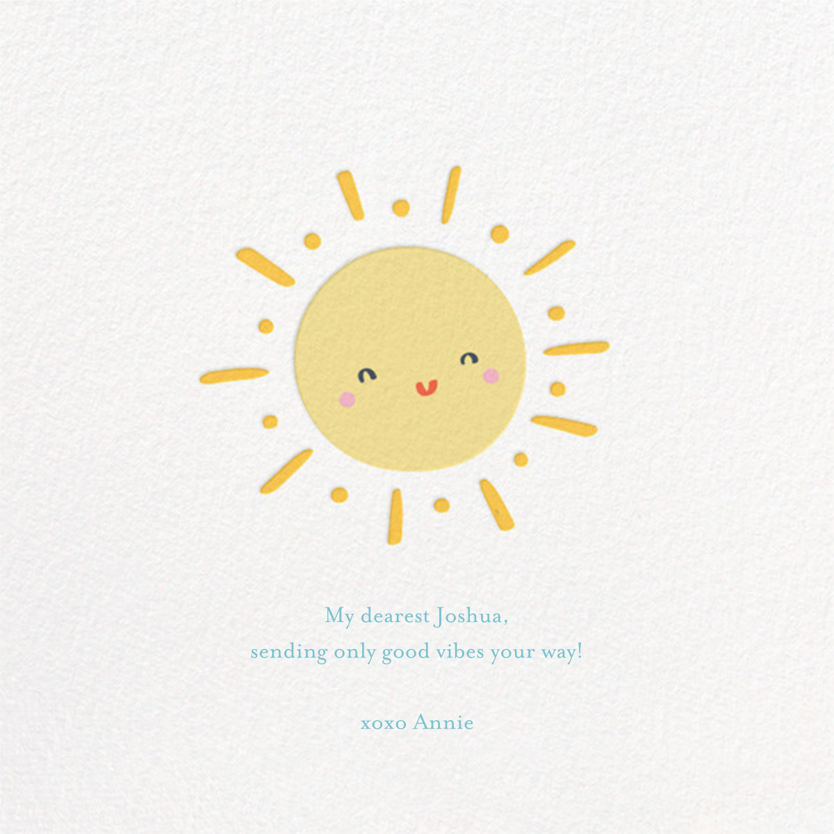 Smiling Suns - Little Cube - Just because - card back