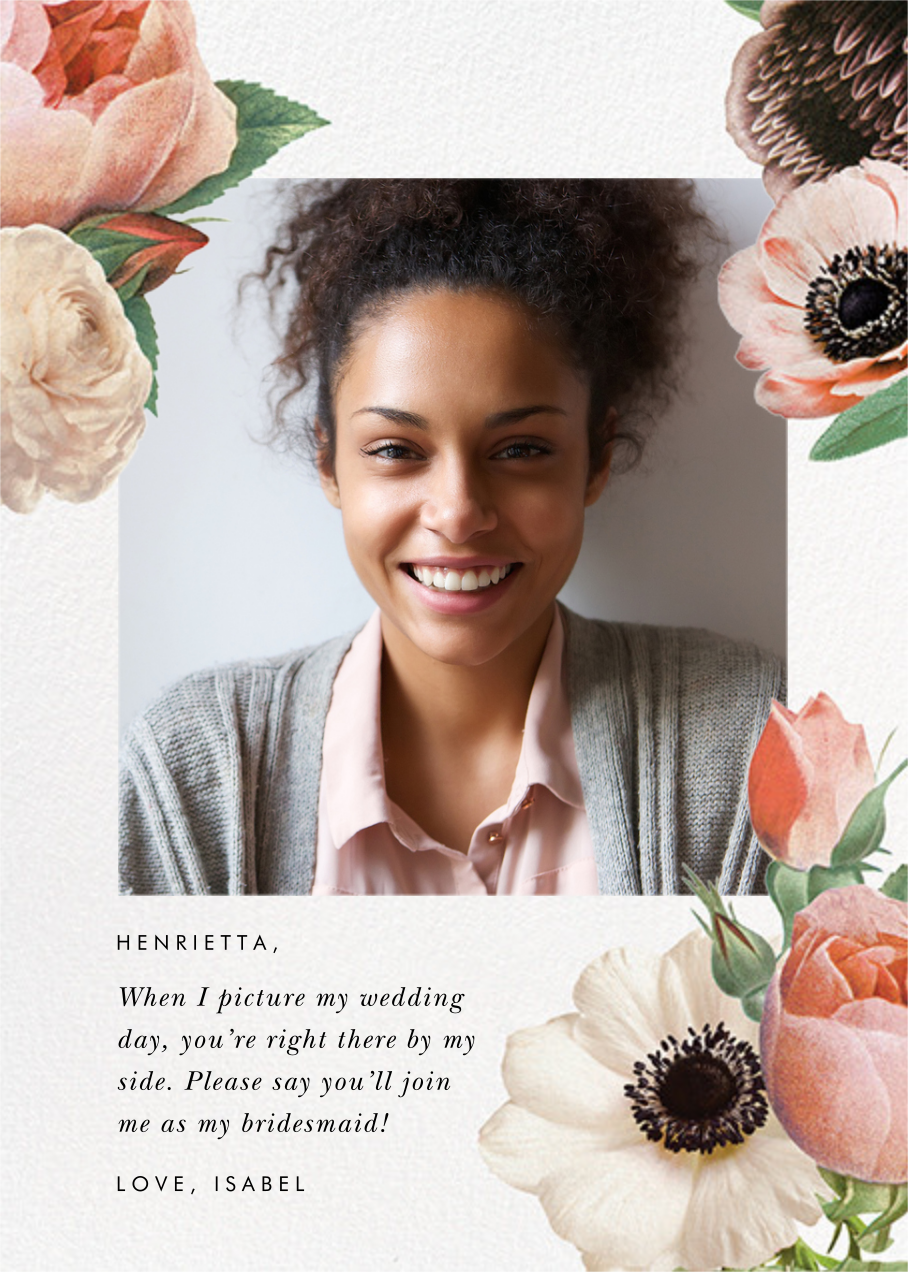 Floral Collage Photo - kate spade new york - Wedding party requests