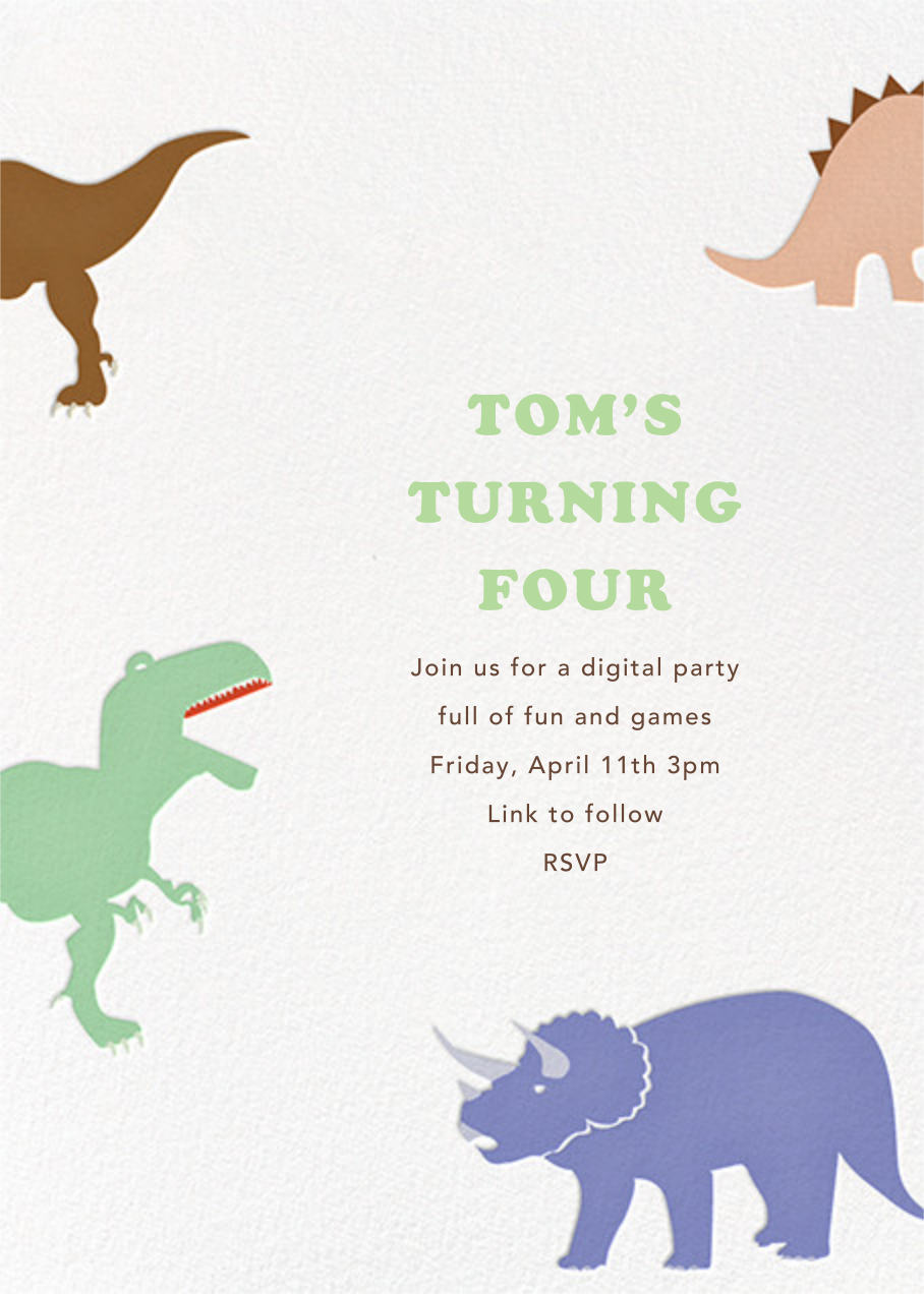 Dinosaurs - Paperless Post - Kids' birthday