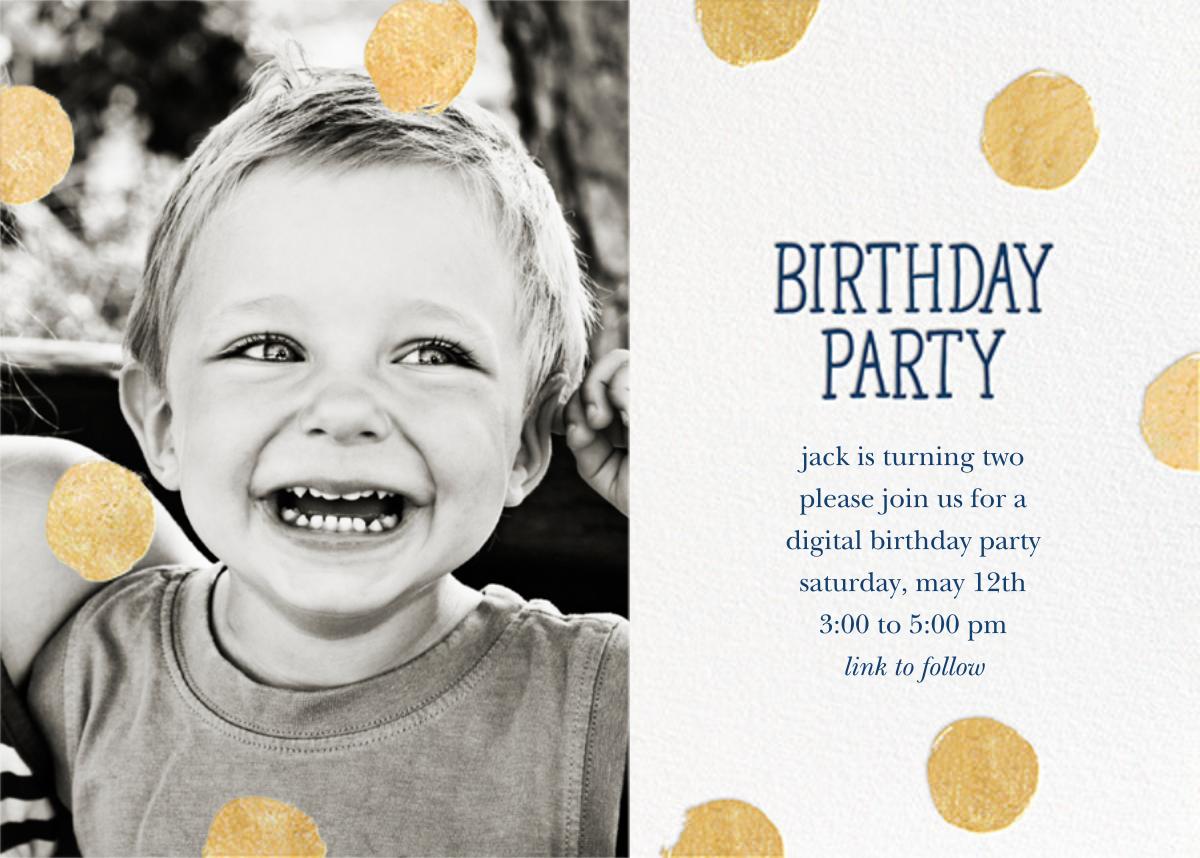 Big Dot Birthday (Photo) - Dark Blue - Sugar Paper - Virtual parties