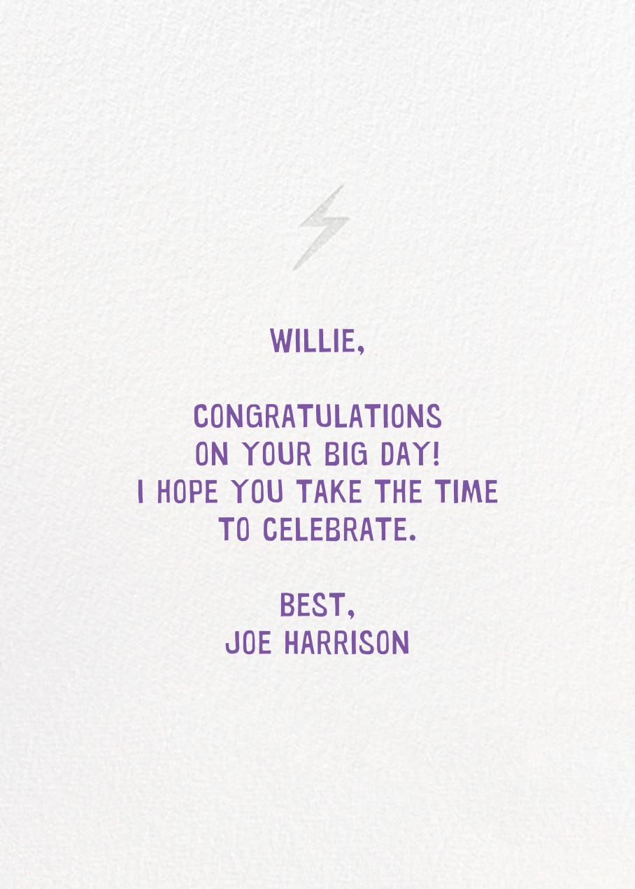 On A Roll - Hello!Lucky - Congratulations - card back
