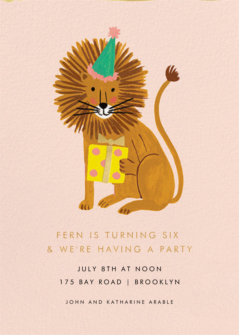 Lion Birthday - Rifle Paper Co. - Kids' birthday