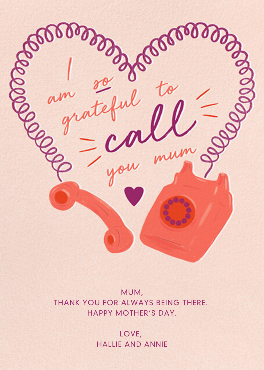 Heart Cord - Paperless Post - Mother's Day