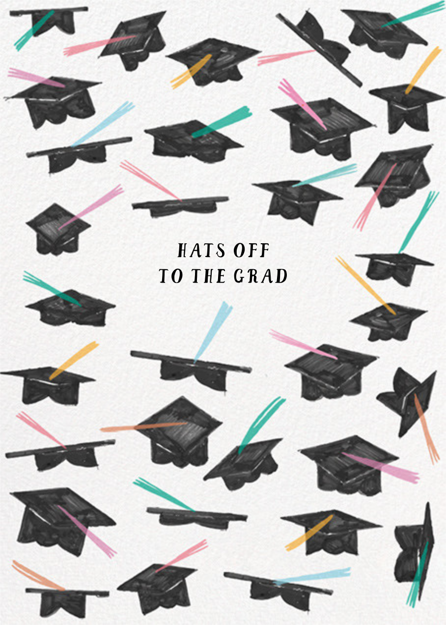 Pastel Caps - Mr. Boddington's Studio - Graduation