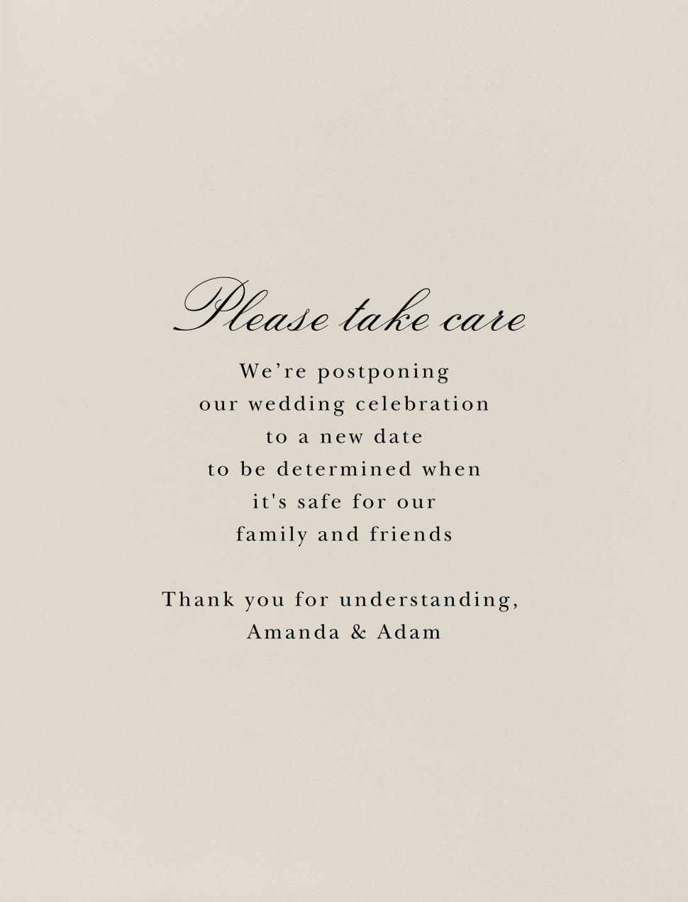 Sand - Paperless Post - Wedding postponement