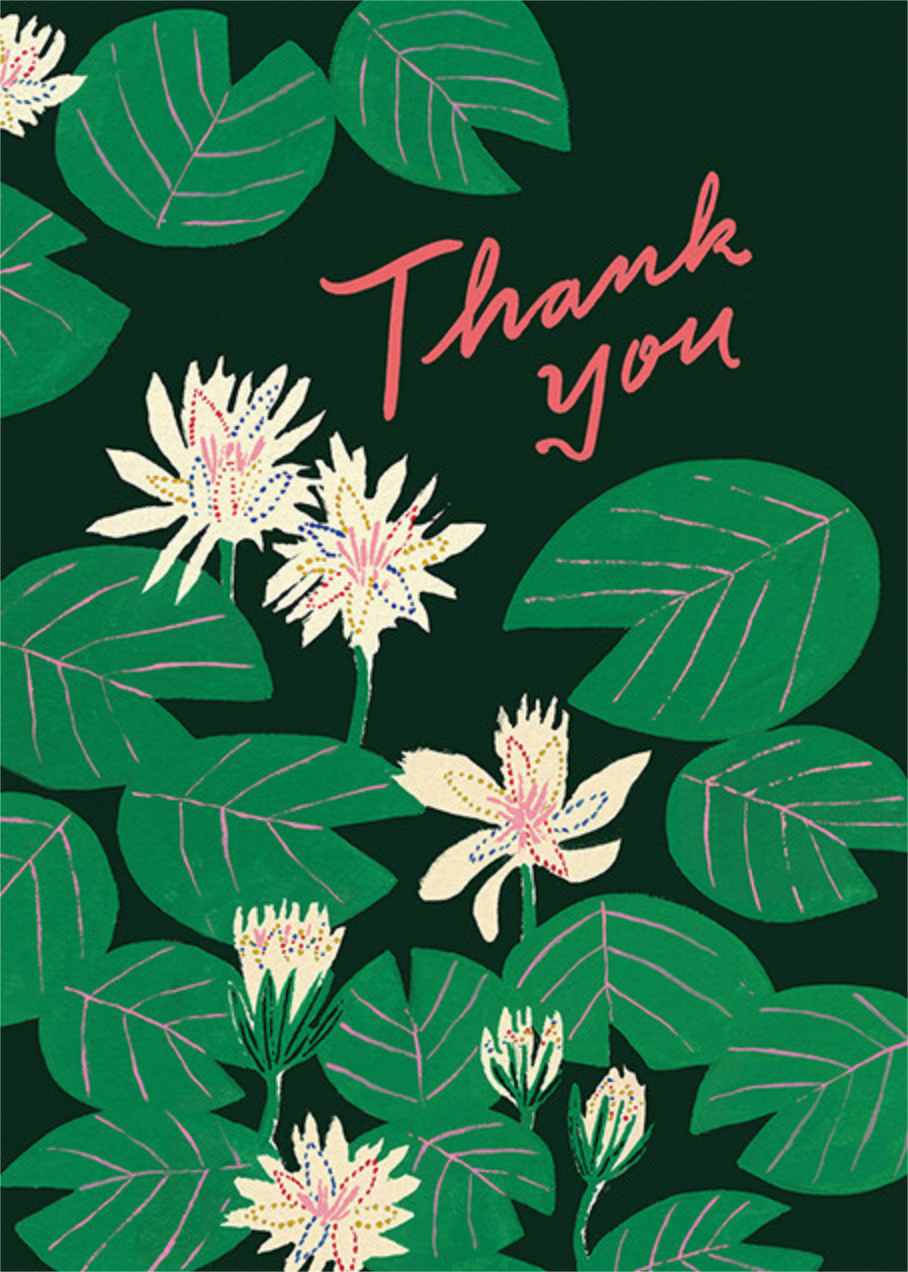 Lily Pads (Emily Isabella) - Red Cap Cards - Thank you