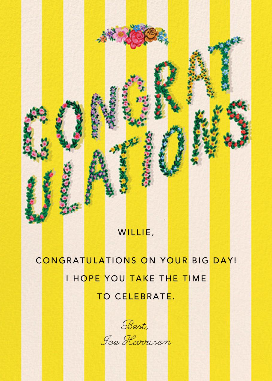 Congrats in Bloom (Danielle Kroll) - Red Cap Cards - Congratulations