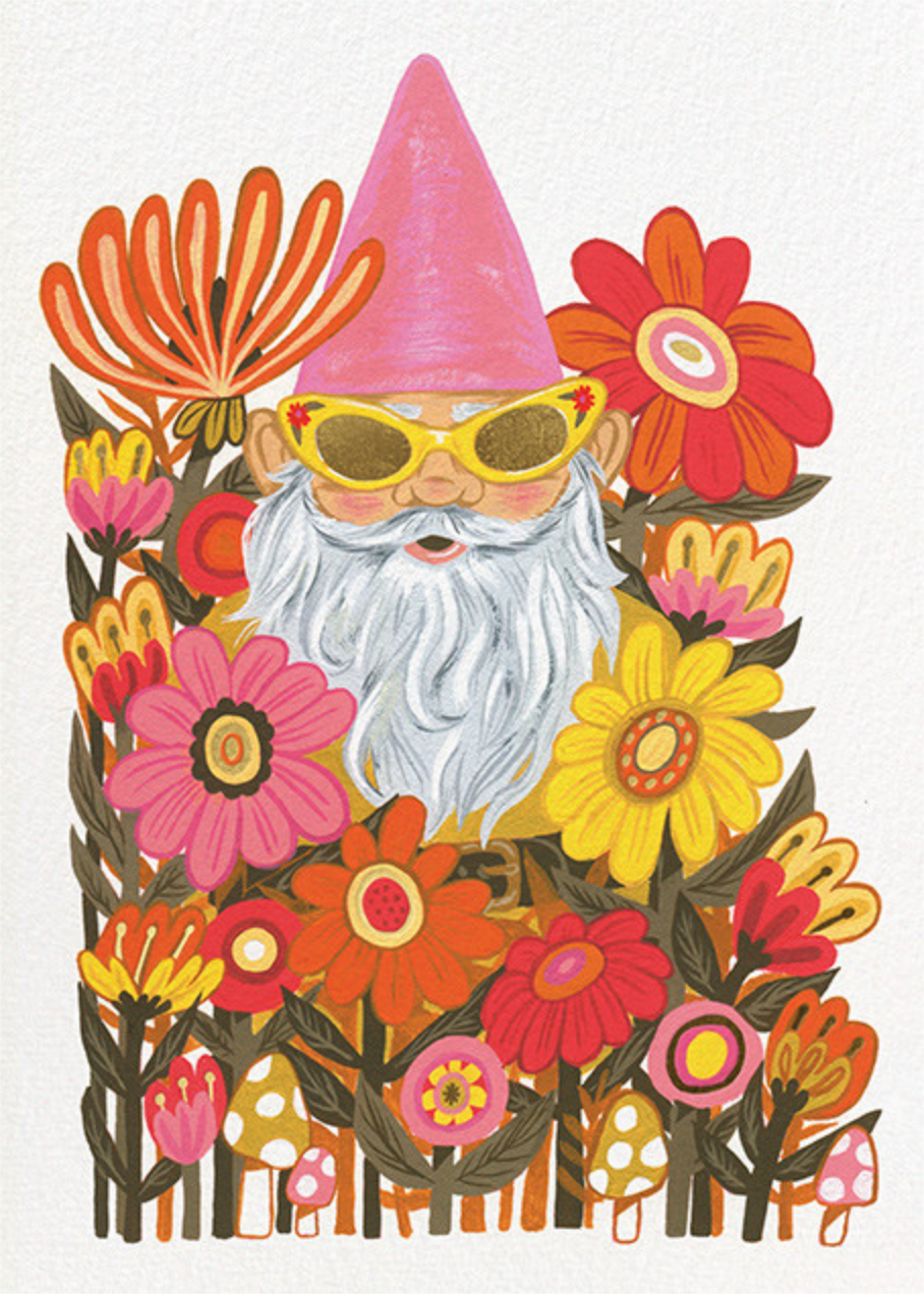 Gnome Worries (Krista Perry) - Red Cap Cards - Birthday