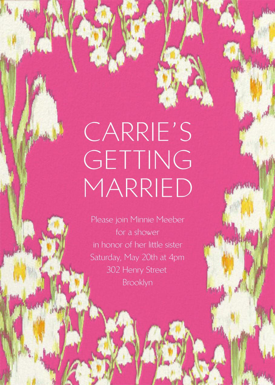 Garden Lilies - Pink - Carolina Herrera - Bridal shower
