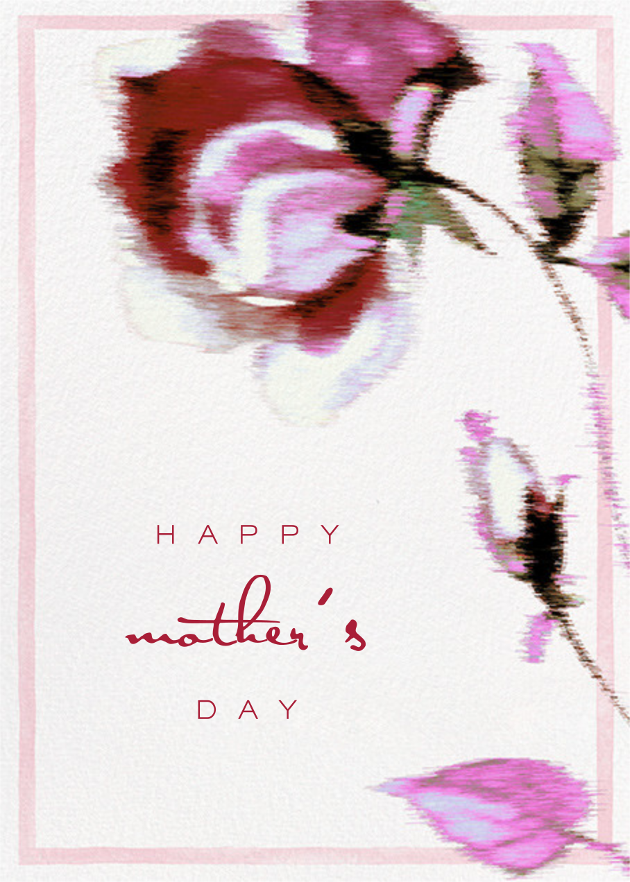 Abstracted Bloom (Greeting) - Pink - Carolina Herrera - Mother's Day