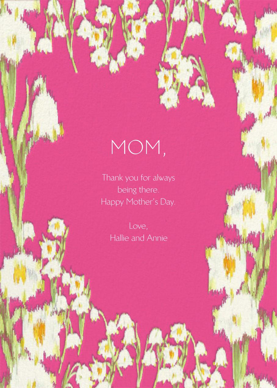 Garden Lilies (Greeting) - Pink - Carolina Herrera - Back