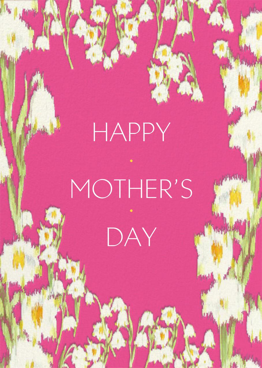 Garden Lilies (Greeting) - Pink - Carolina Herrera
