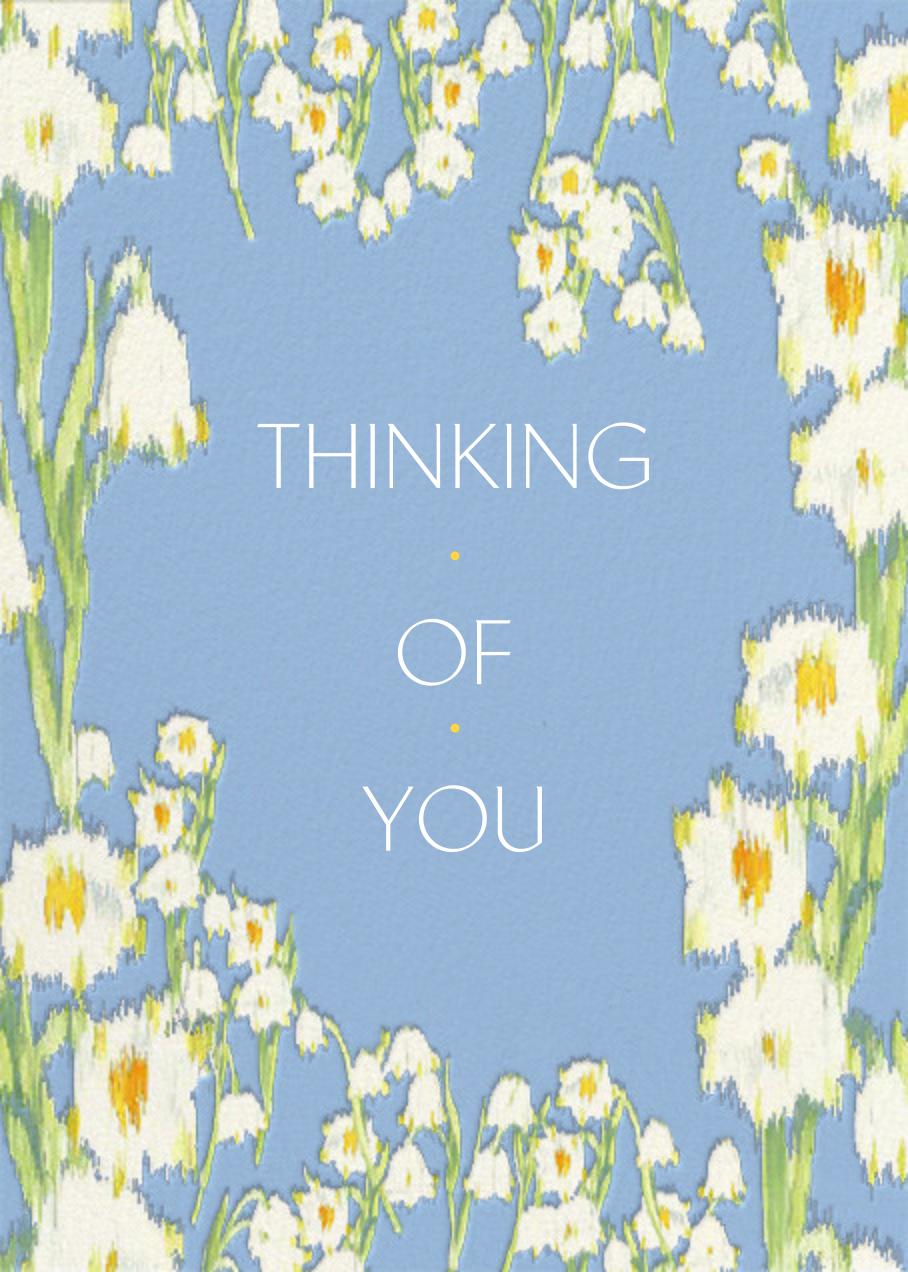 Garden Lilies (Greeting) - Blue - Carolina Herrera - Thinking of you