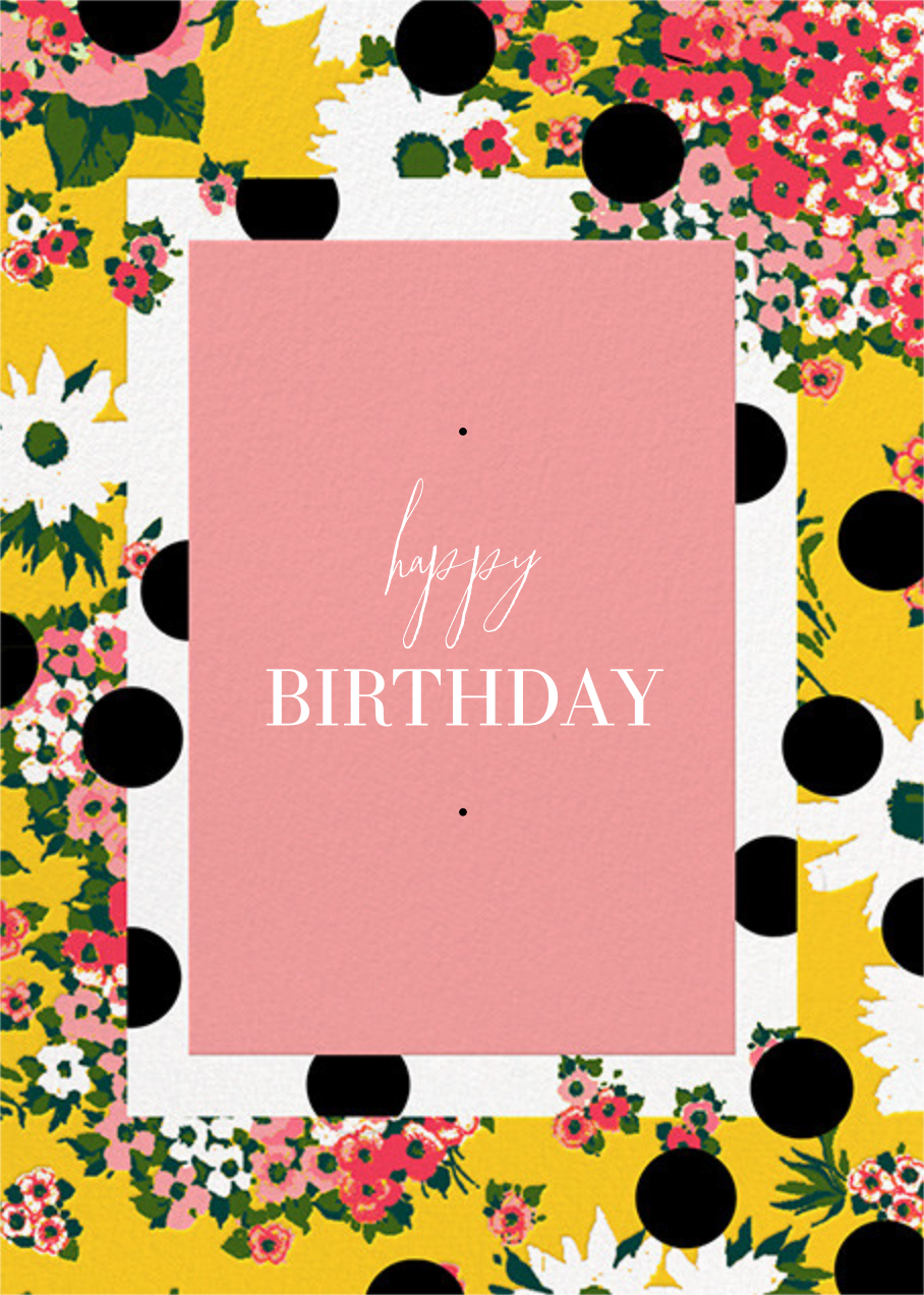 Floral Dots (Greeting) - Carolina Herrera - Birthday