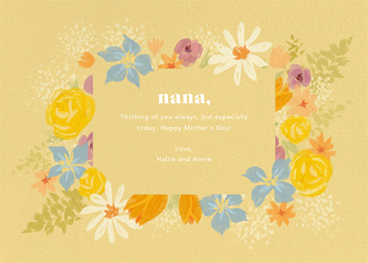 Grandma in Bloom - Paperless Post - Mother's Day - card back