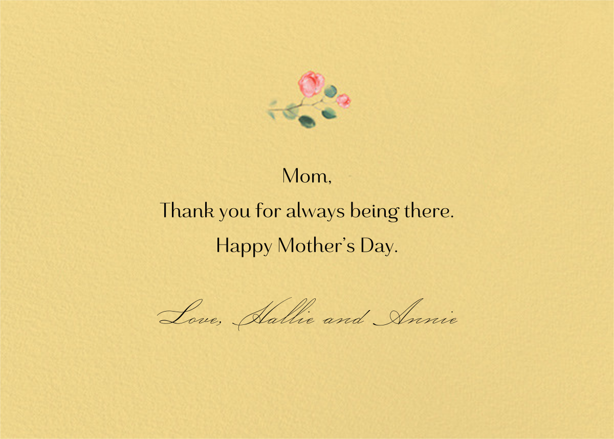 Peach Perfect - Paperless Post - Mother's Day - card back