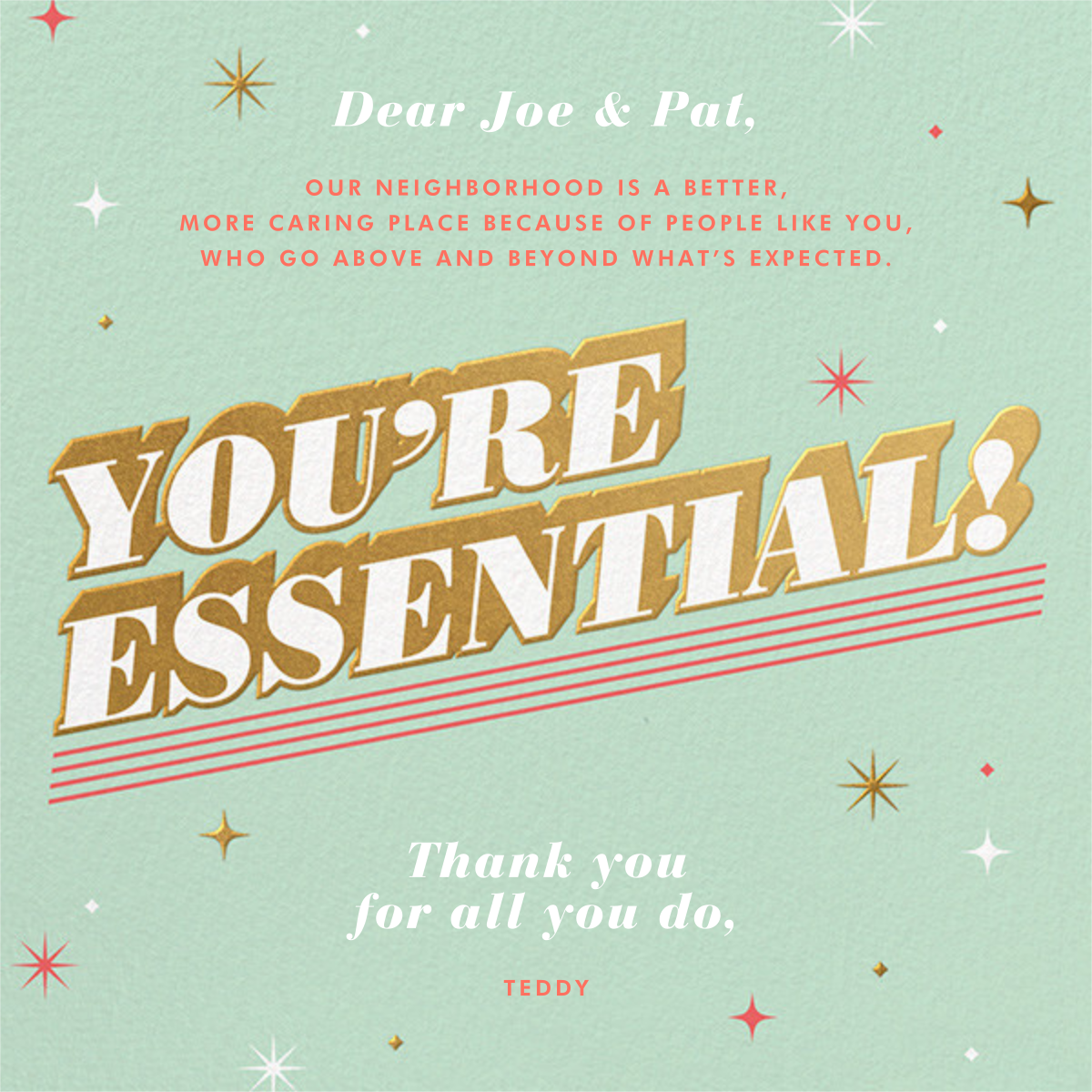 Essential Gratitude - Paperless Post - Thank you