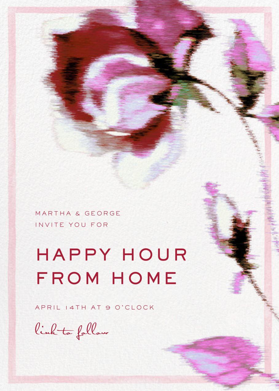 Abstracted Bloom - Pink - Carolina Herrera - Happy hour