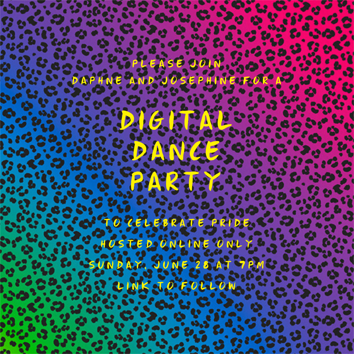Neon Cheetah - Paperless Post - Virtual parties